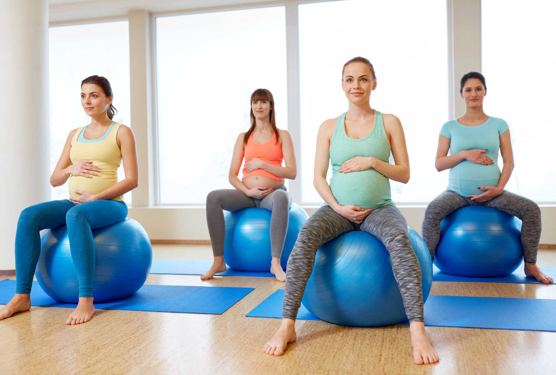 Ako cvičiť v tehotenstve, 2. a 3. trimester